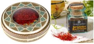 بسته بندی و برندینگ زعفران، سمت راست زعفران اسپانیا و سمت چپ زعفران ایران