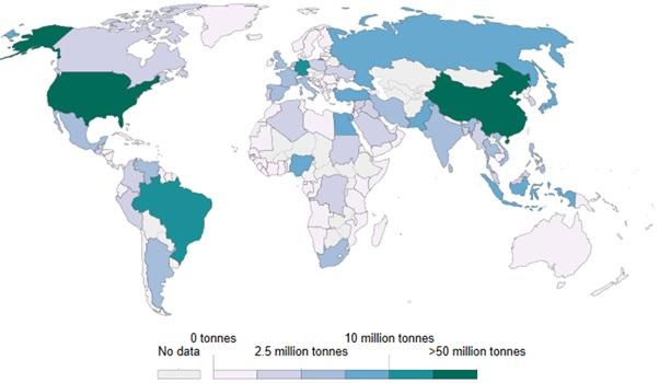 میزان تولید زباله های پلاستیکی در نقاط مختلف دنیا و نحوه مدیریت آن